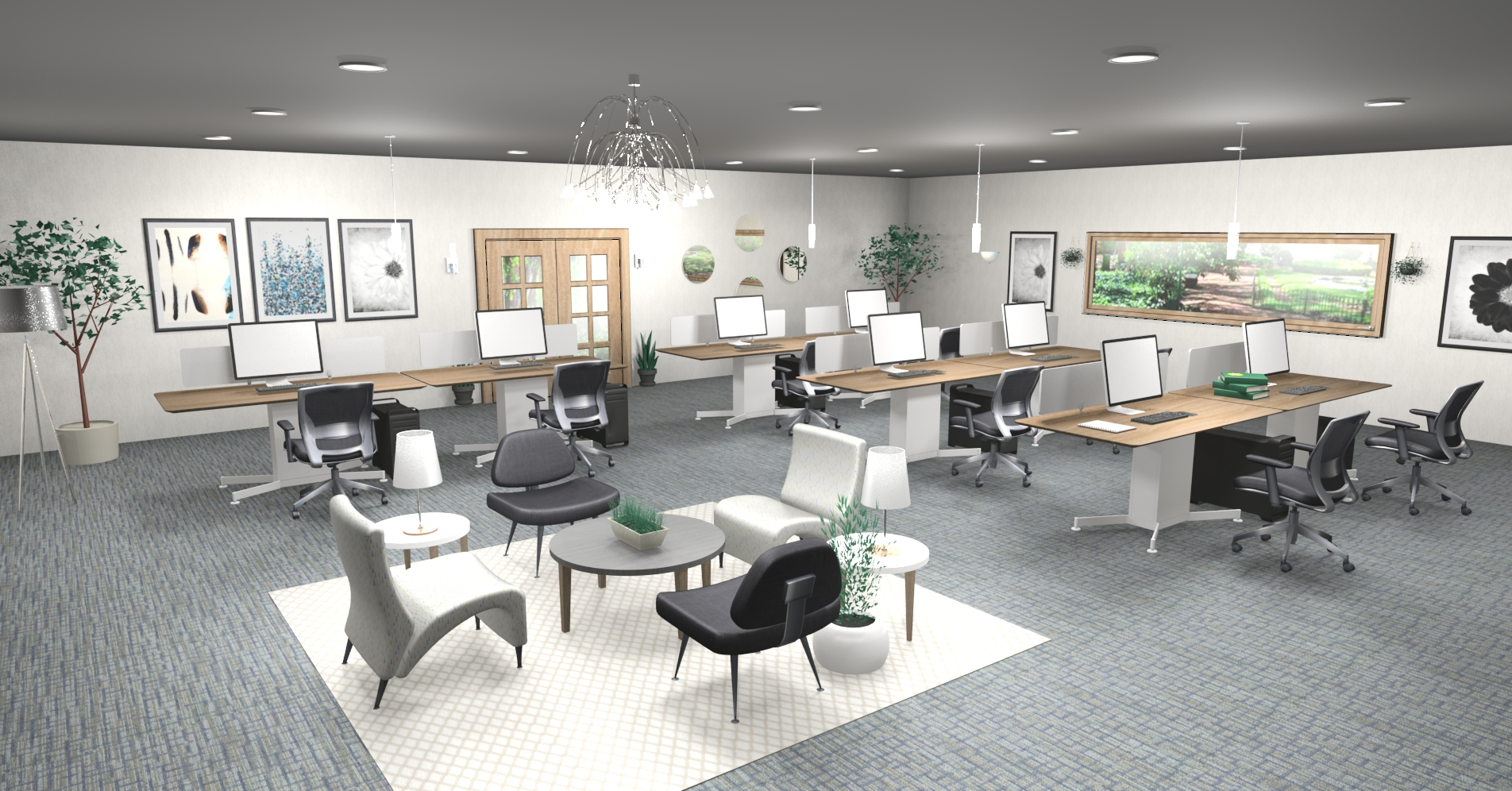 2020 office design trends 2020 for Trendy office design